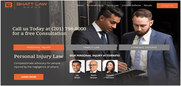 Top Lawyer Websites Have a Simple Interface best law firm websites