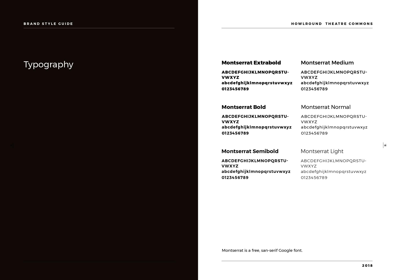 Kim Lai Design Portfolio: HowlRound Theatre Commons Brand