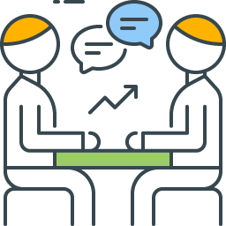 graphic icon representing organizational communication