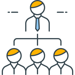 graphic icon representing organizational hierarchy