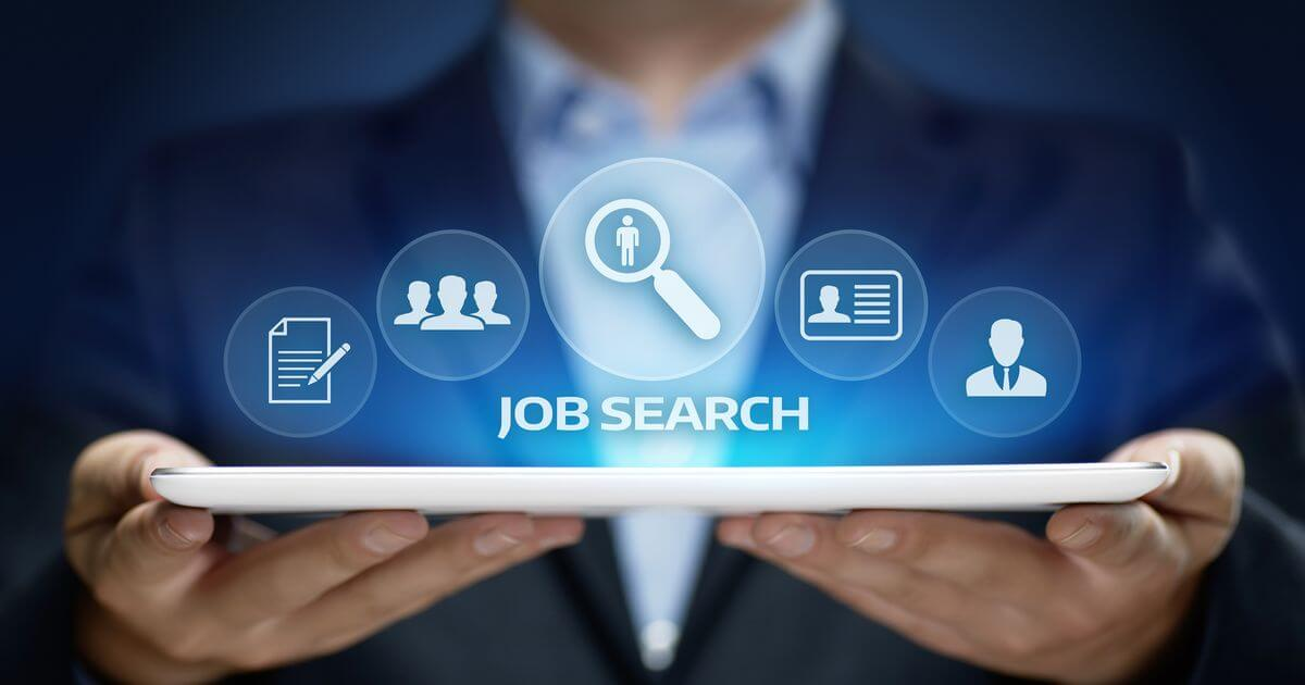 Abstract image showing job search tools