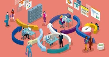 abstract graphic depicting the busy nature of organizational ppm work