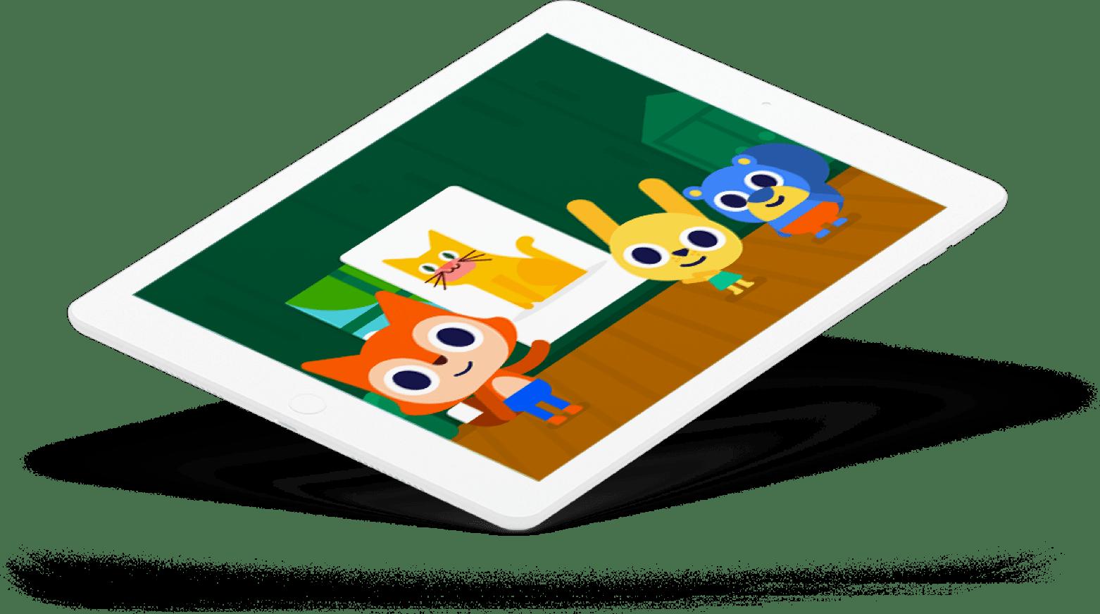 ipad with screenshot of app