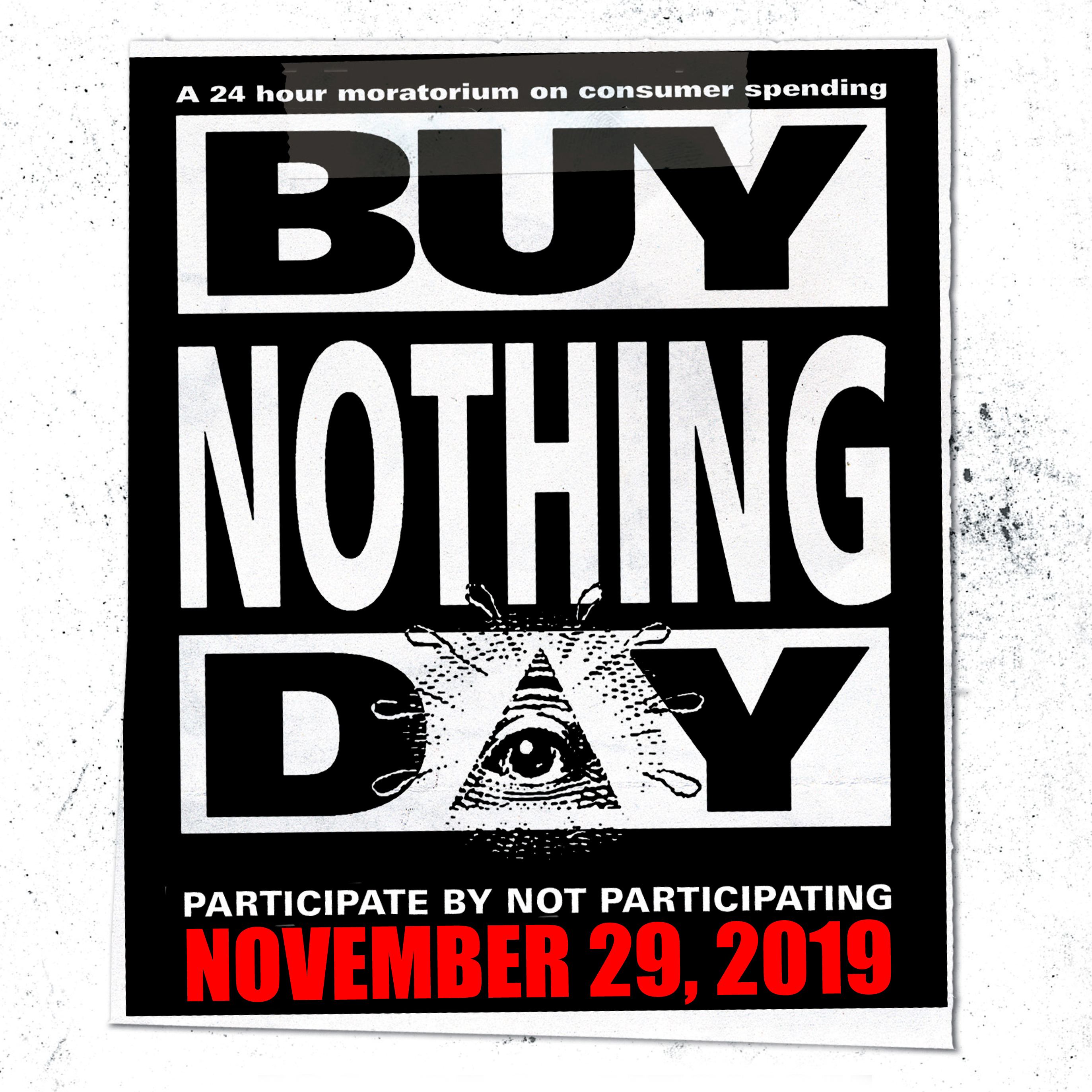 Image result for buy nothing day 2019