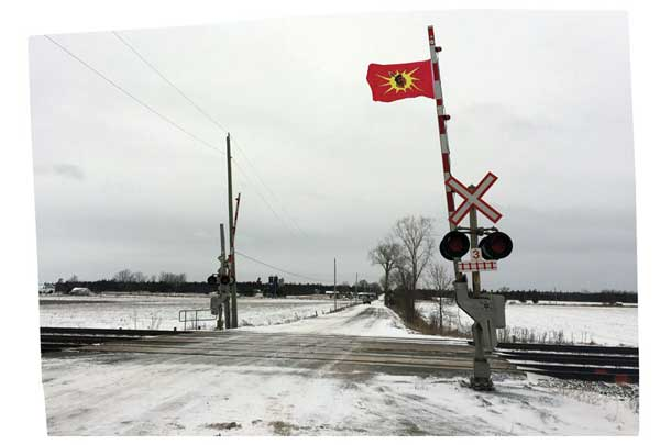 indigenous flag road