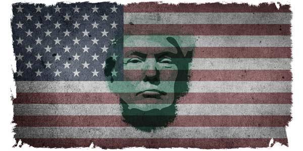 usa flag Trump