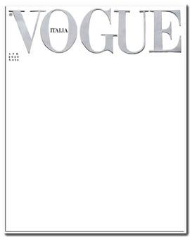 empty cover vogue italia