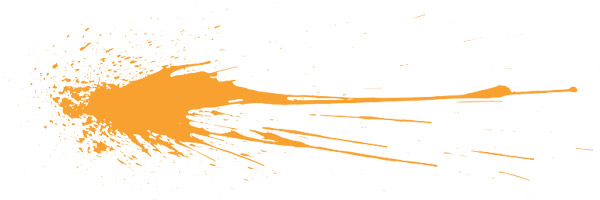orange splatter