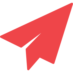 Red paper plane - contact button