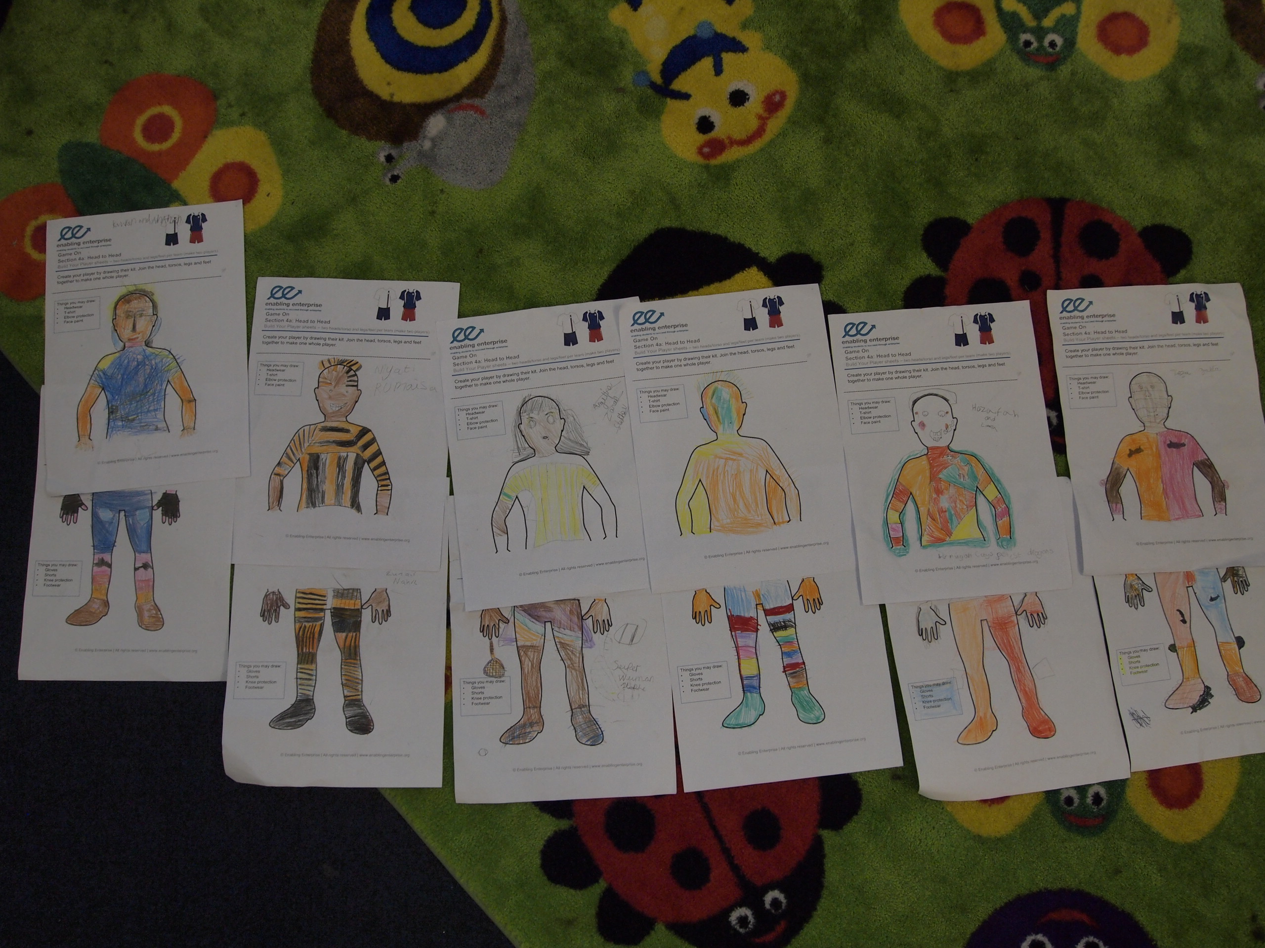 More Creativity at play as Year 2 designed an array of very colourful outfits!