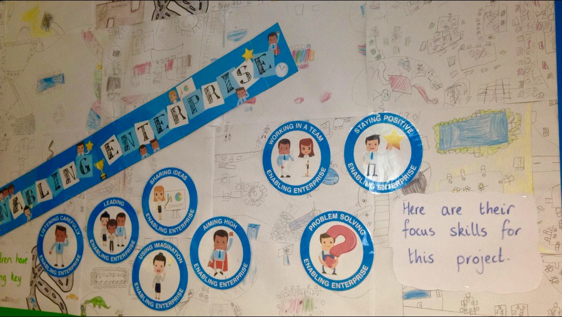 Enabling Enterprise skills and project displays in Key Stage 1 classroom