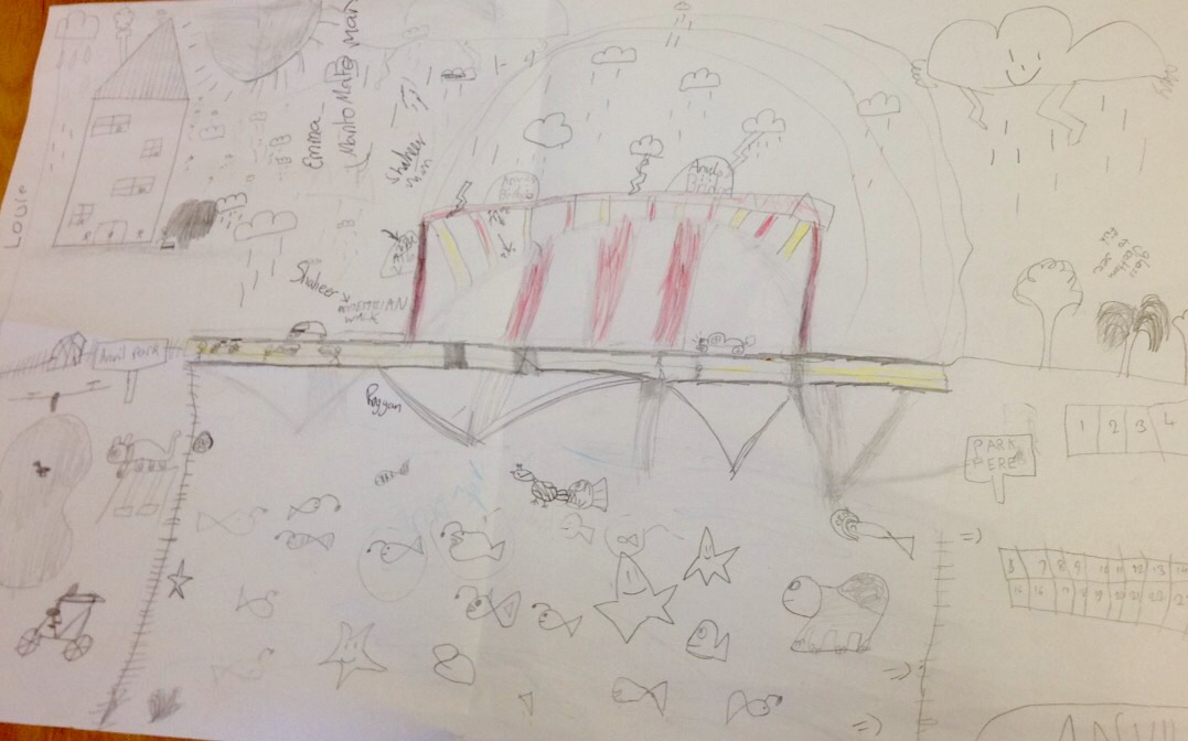 Becoming architects to draw creative bridge designs.