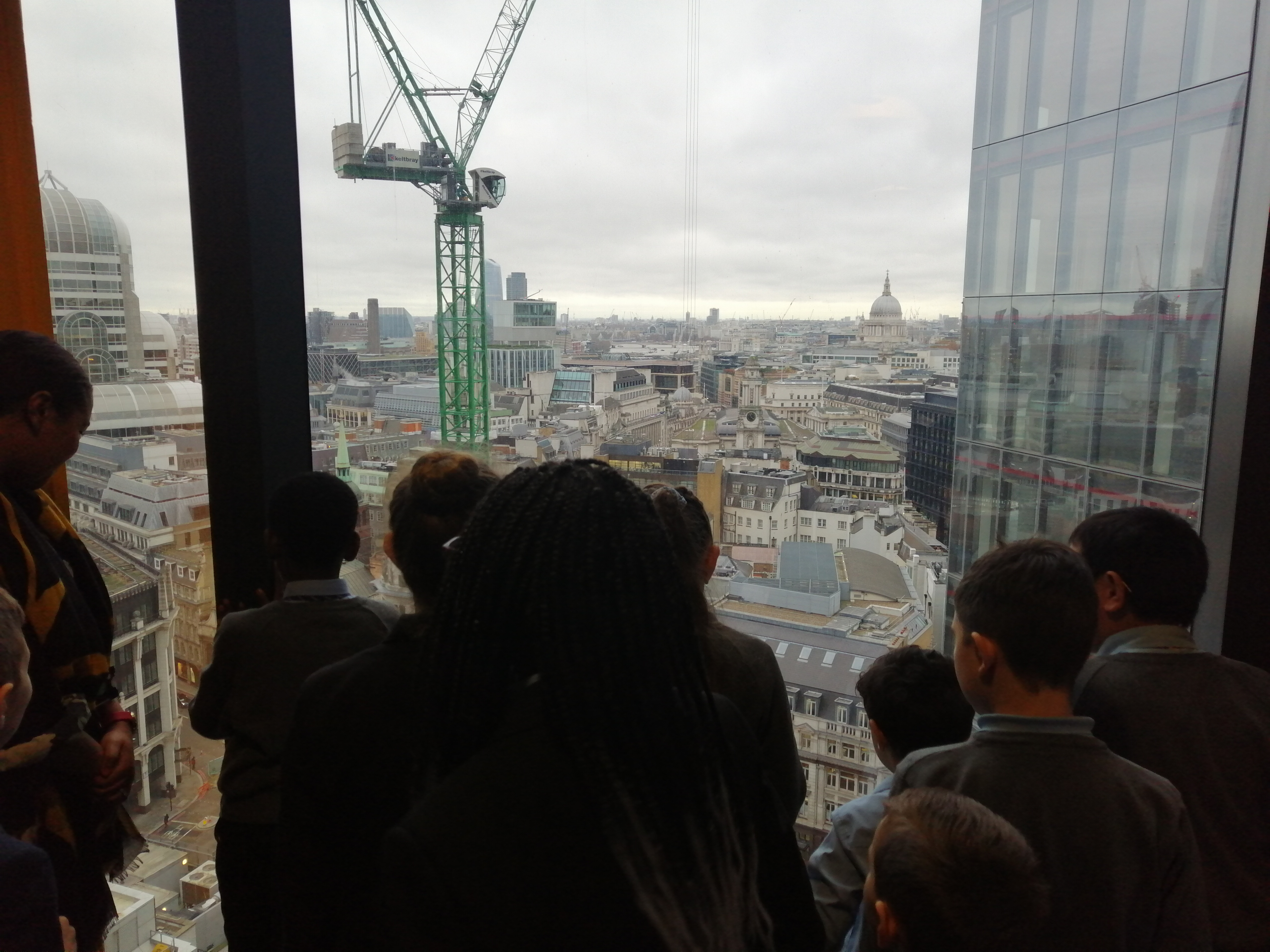 The view from 122 Leadenhall, inspiring children to learn about the financial sector