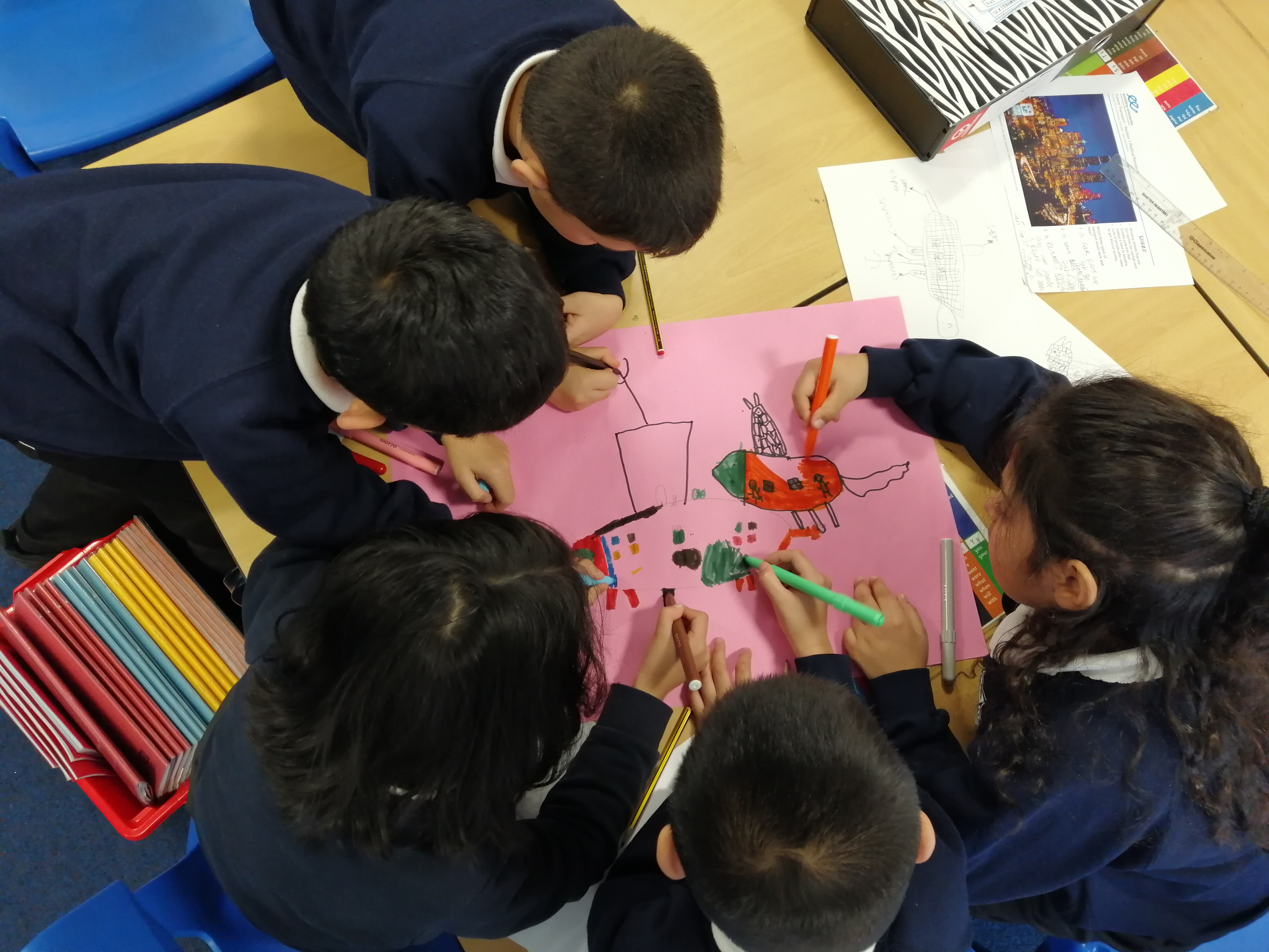 Teamwork, listening and creativity in Year 2's design stage