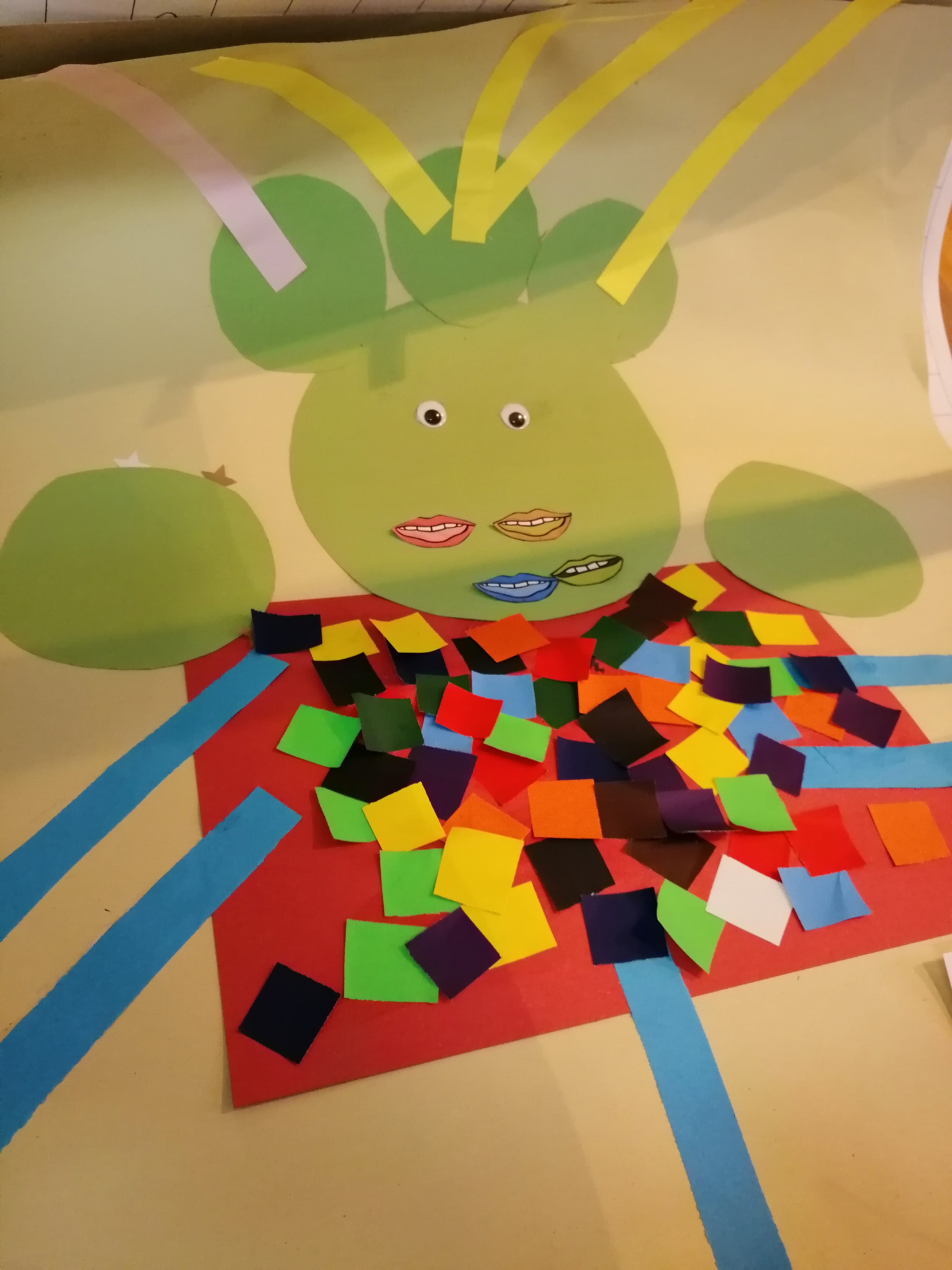EYFS use creativity to create their very own Utopia alien community!