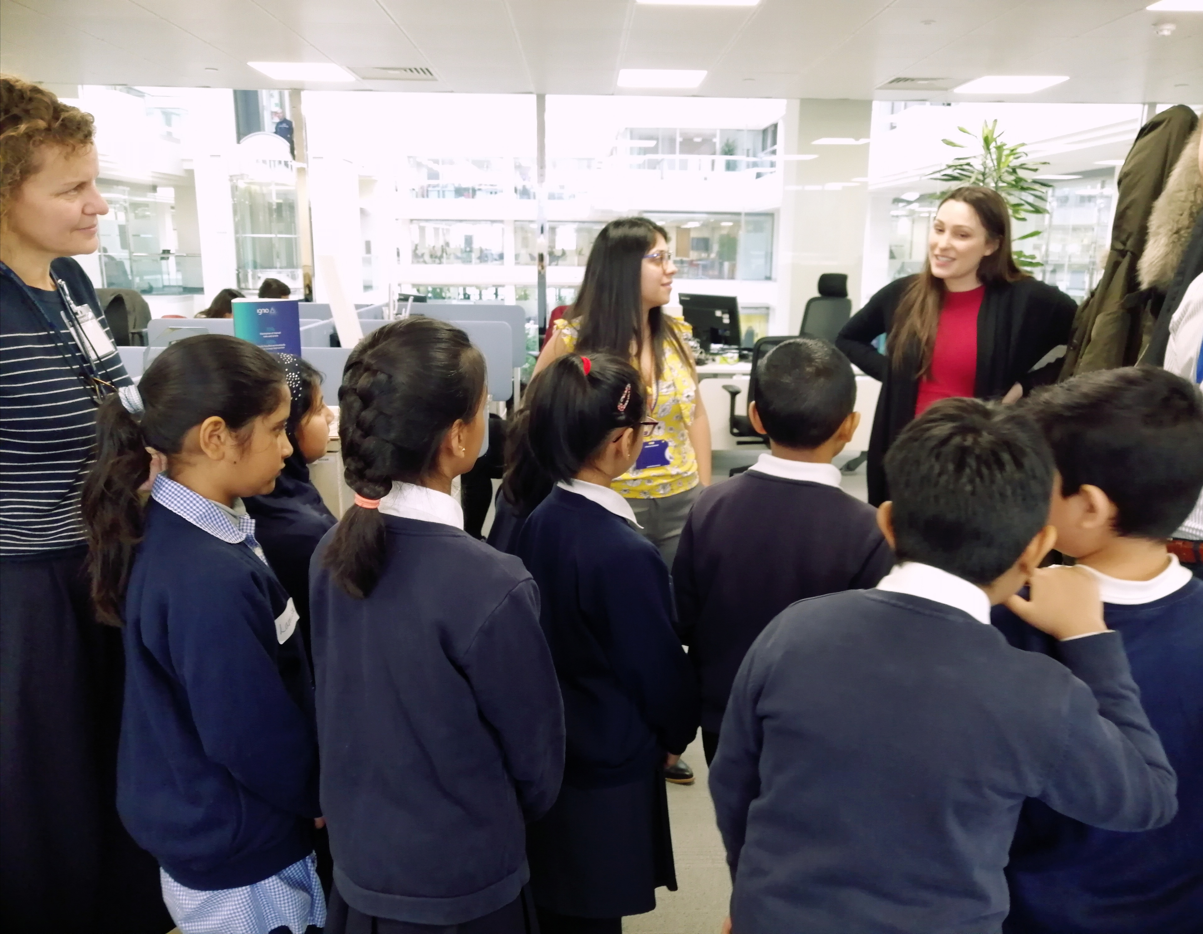 Students use Listening and Problem Solving to carry out market research on their tour of the Tata Consultancy Services office