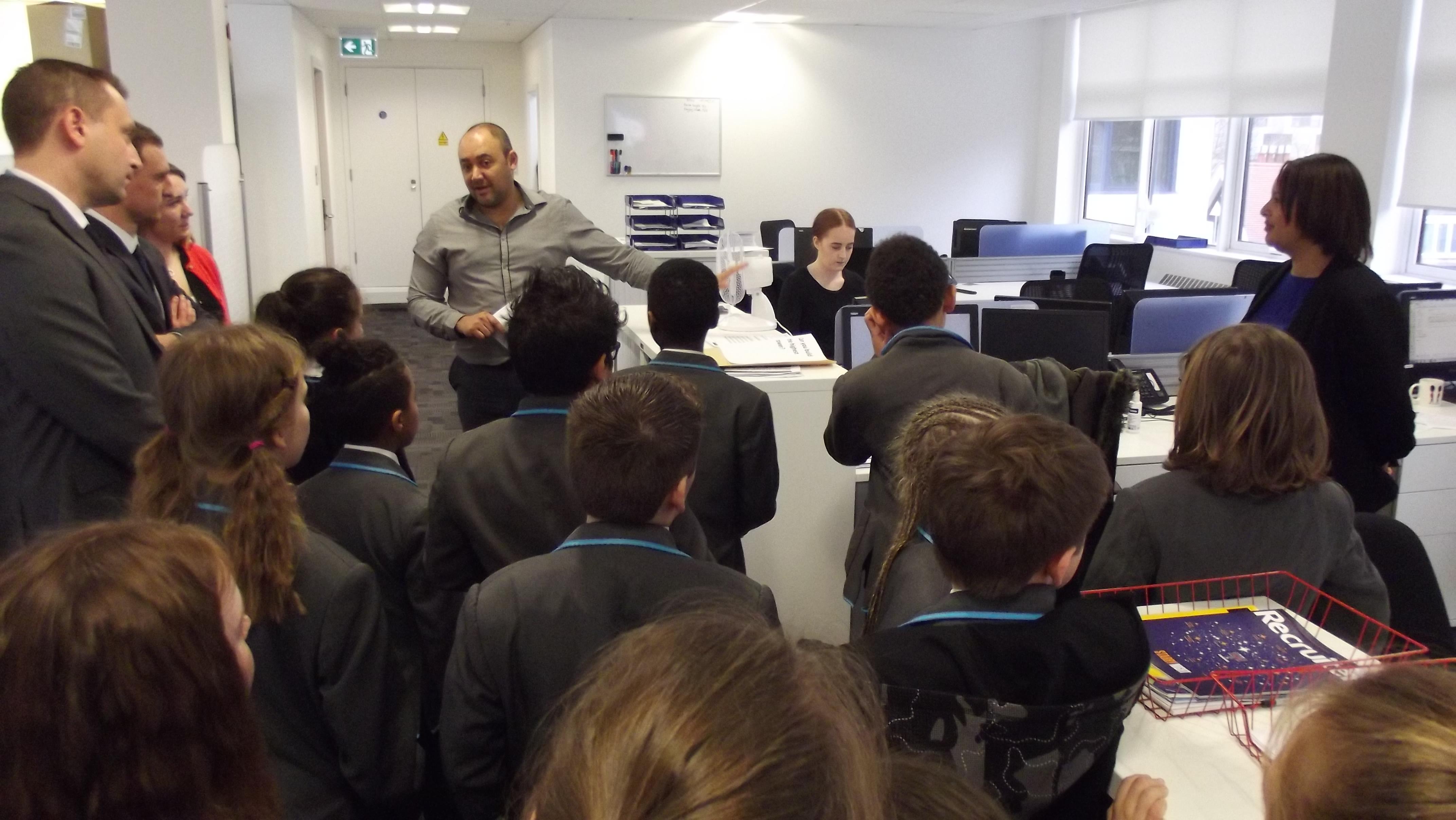School tour of JLL Southampton
