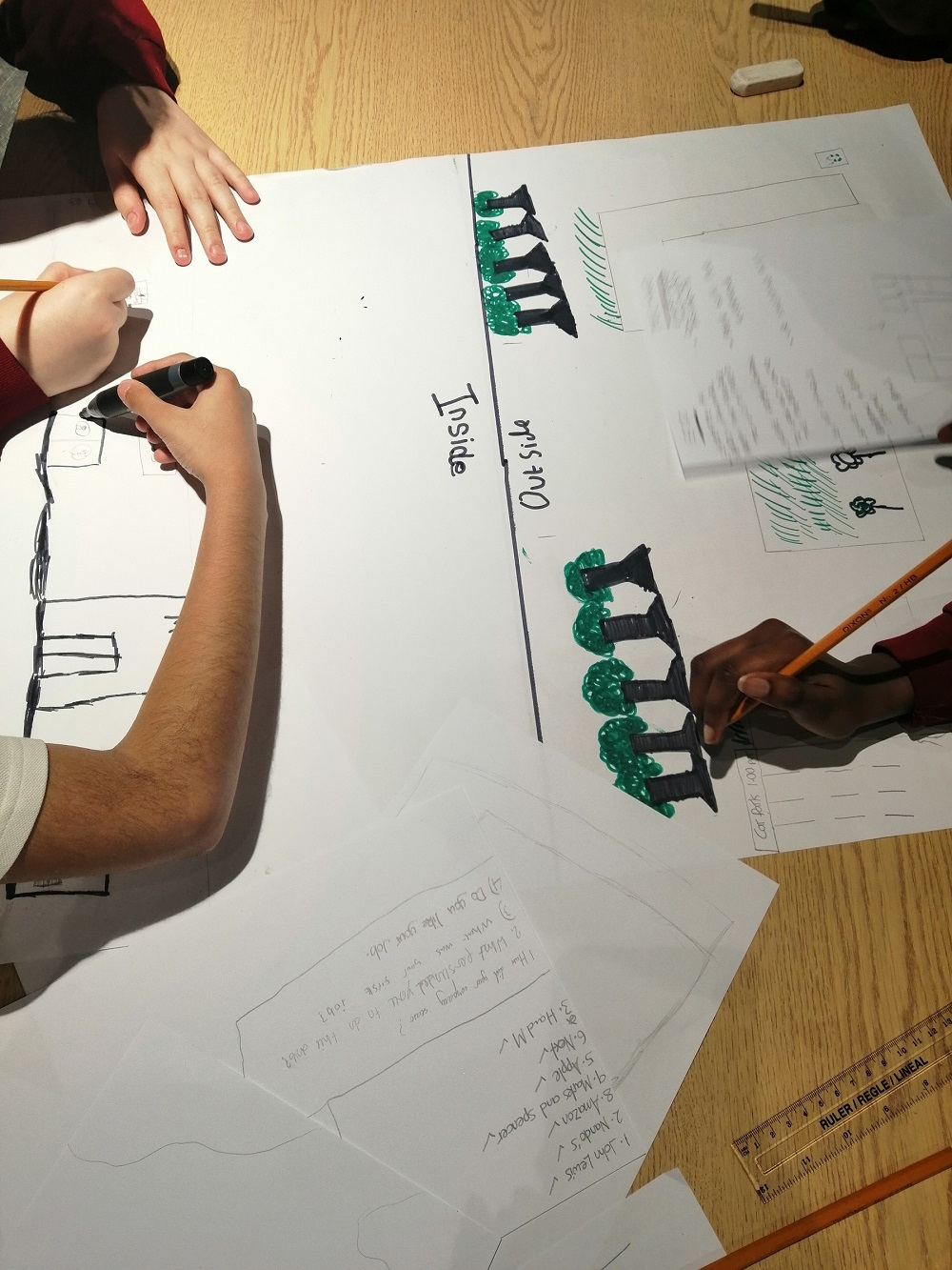 Teamwork and Creativity coming together as teams design a new retail centre.