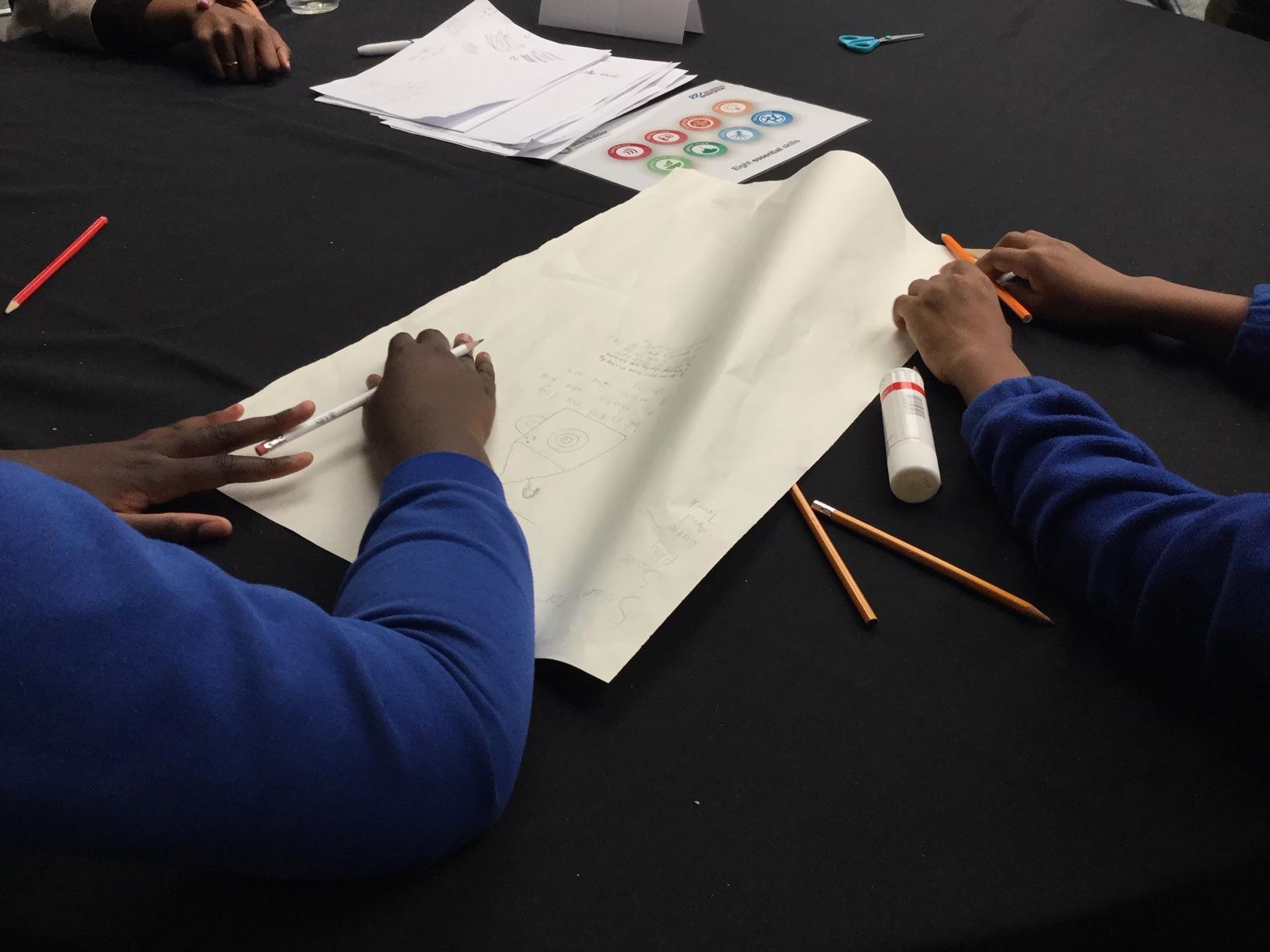 Children developing essential skills