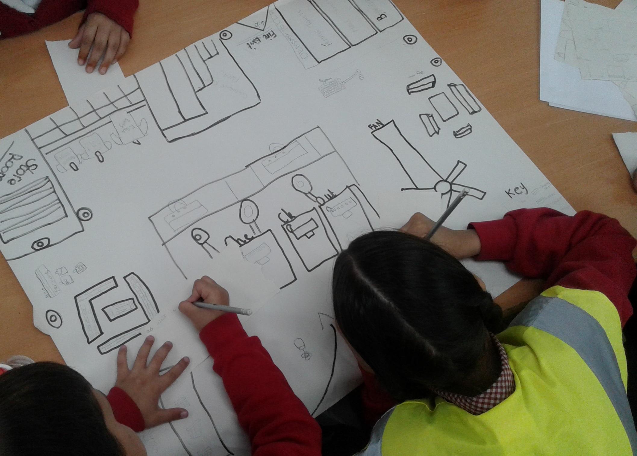 Students design their floor plans