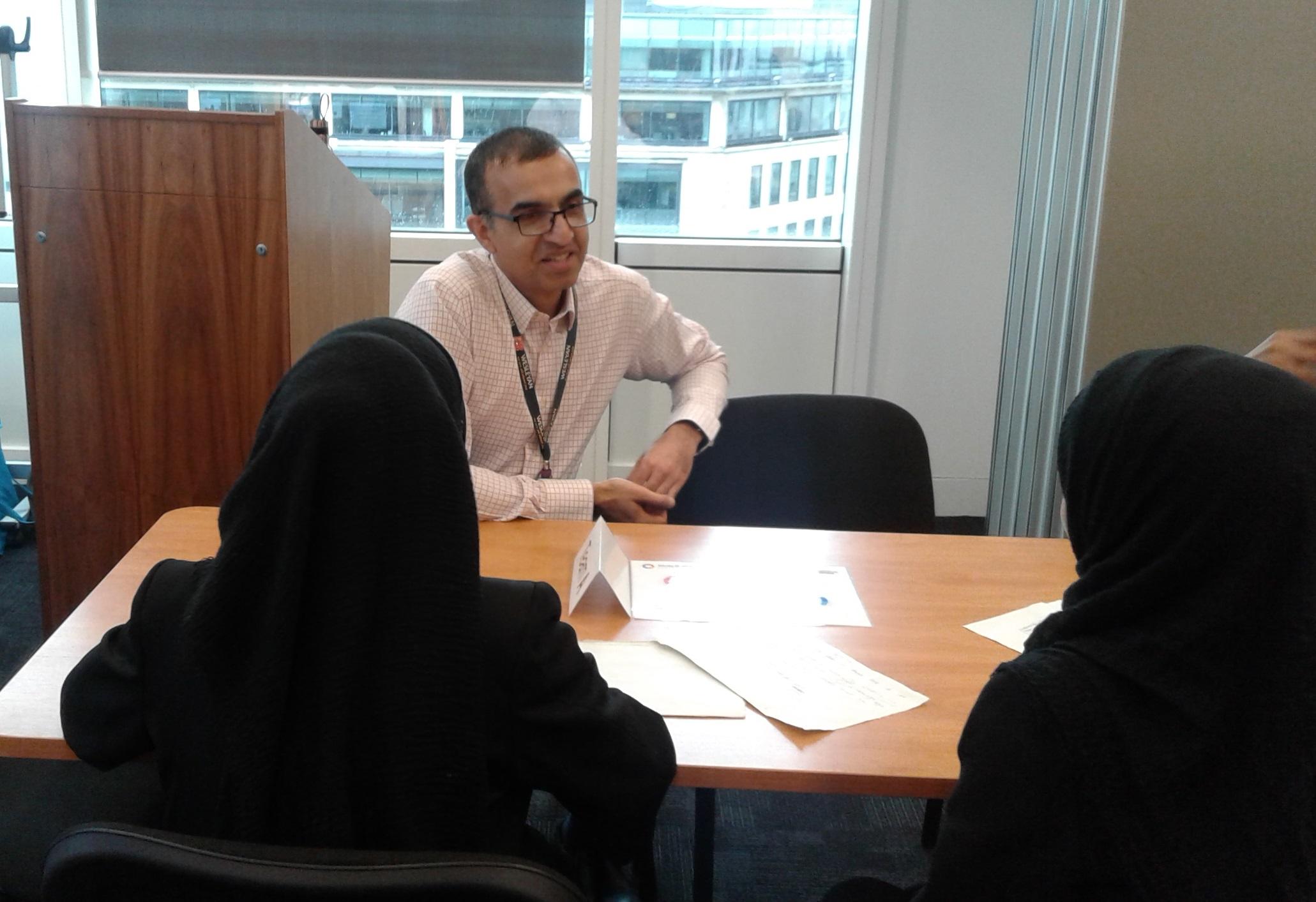 Interviewing Volunteers