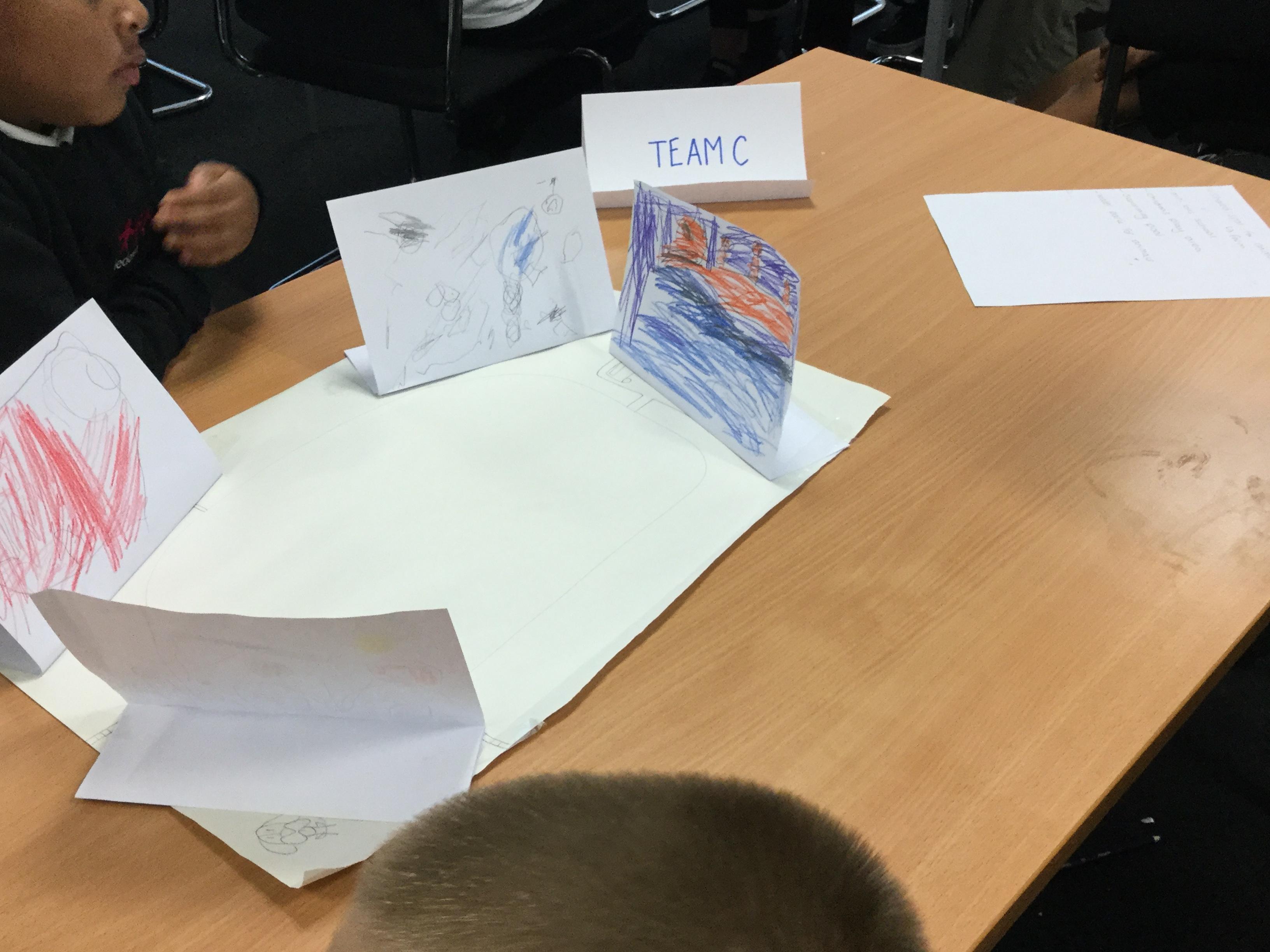 Children practising essential skills.