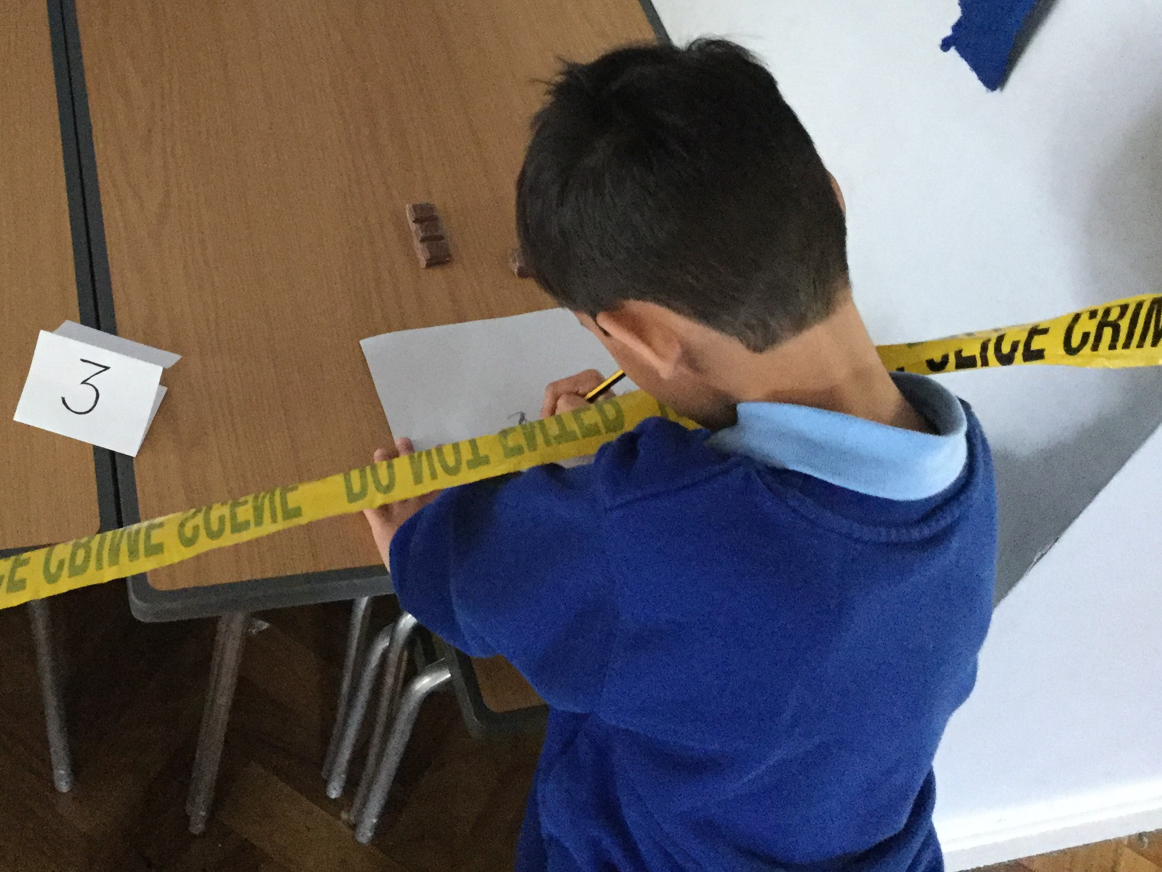 Children investigating the Crime Scene