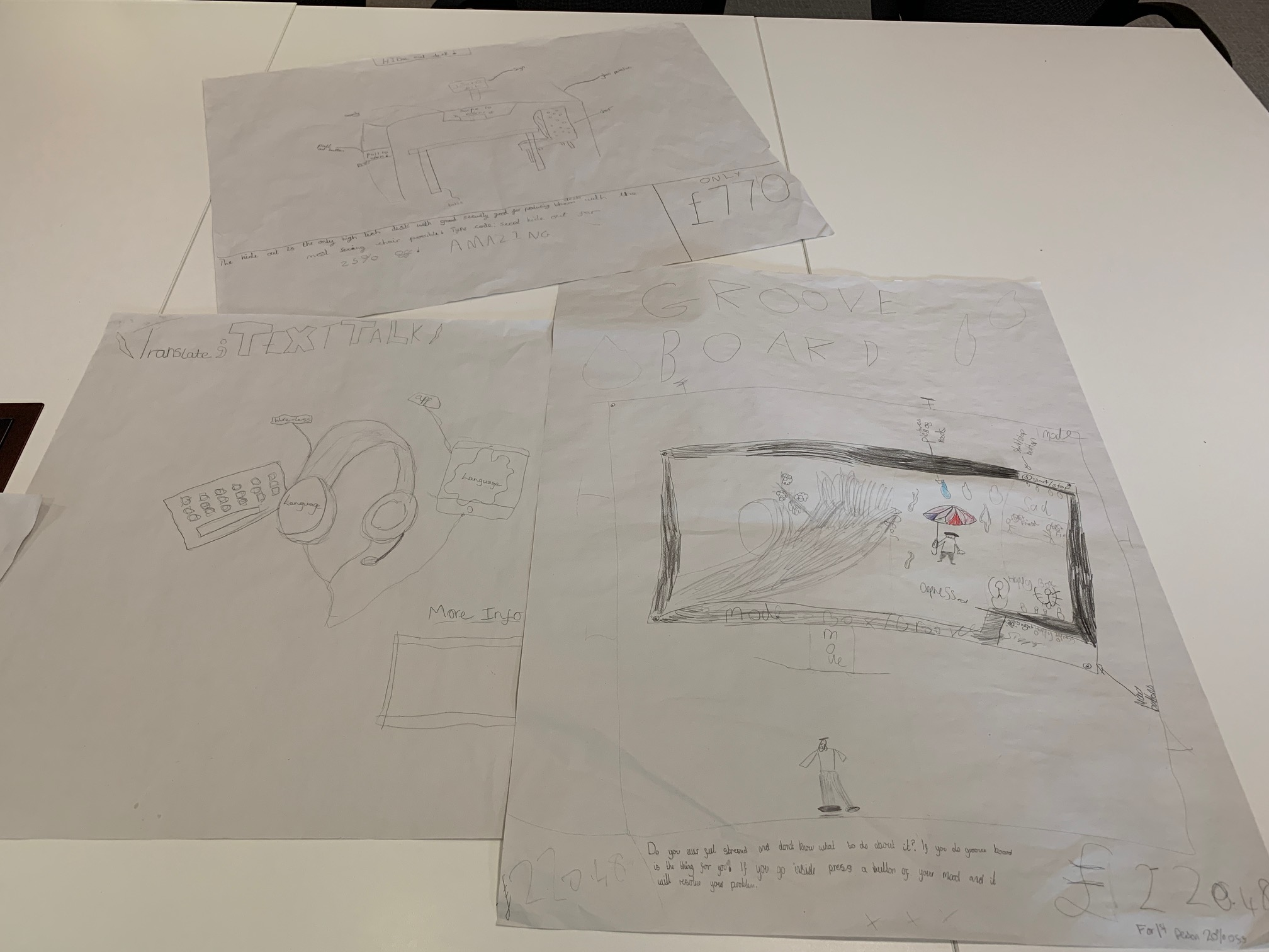 Students imaginative inventions