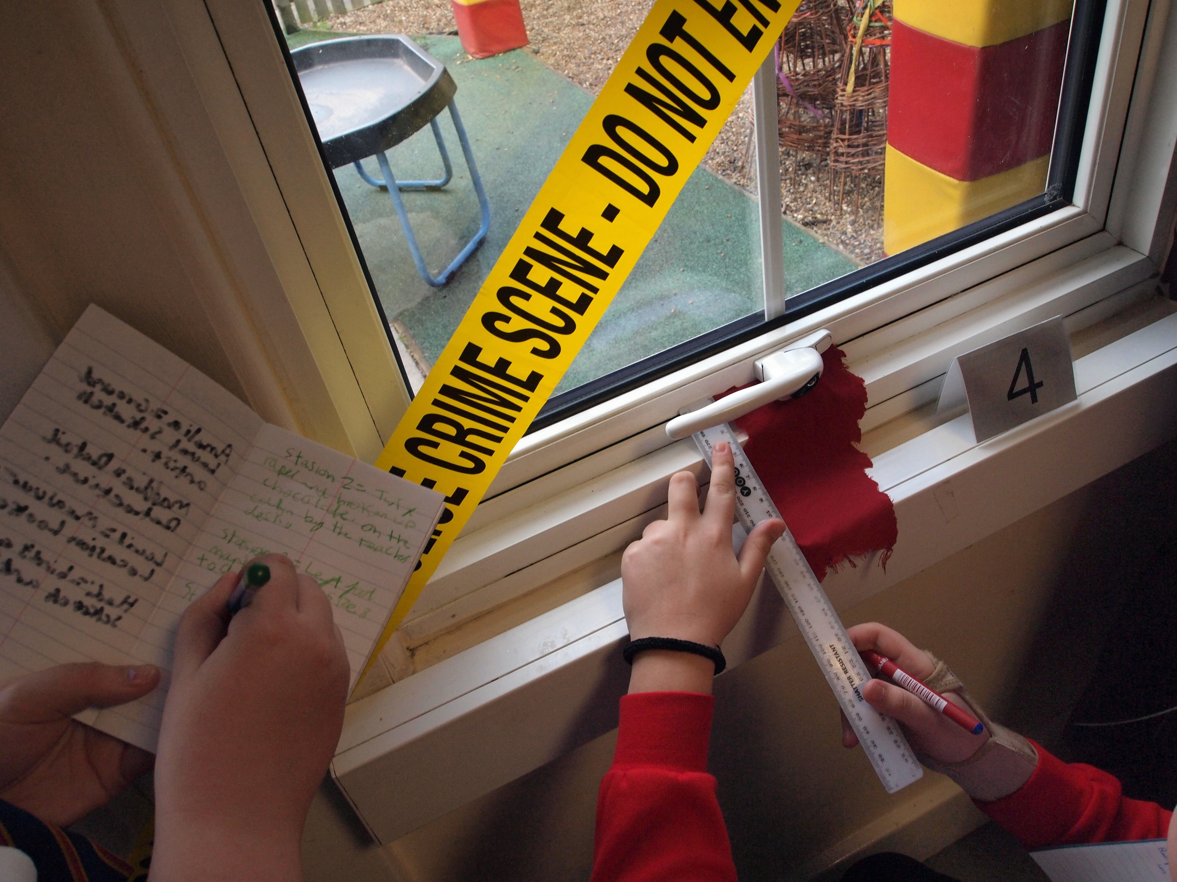 Teamwork and Problem Solving skills at the highest standard on the crime scene itself