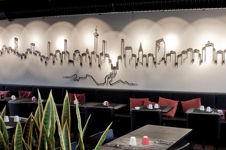 Tampereen tornihotellin Grill it! -ravintolan julkinen taideteos