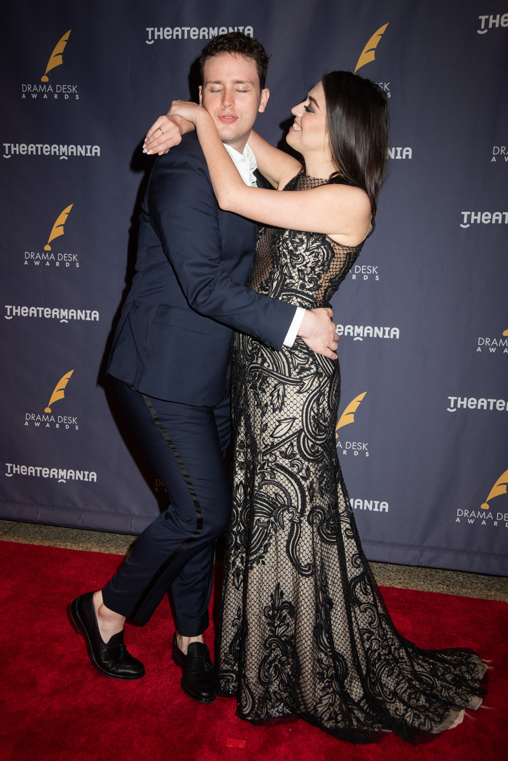 Grey Hensen, Barrett Wilbert-Weed  at the 63rd Annual Drama Desk Awards