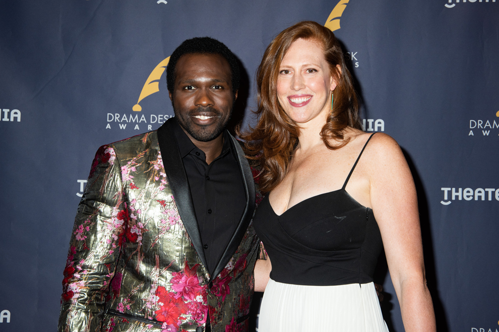 Joshua Henry, Cathryn Stringer at the 63rd Annual Drama Desk Awards