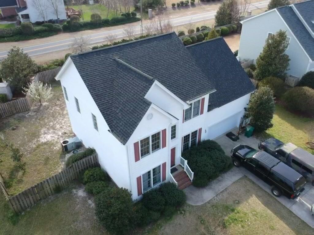 Bales Roofing Shingle Roof Drone Image