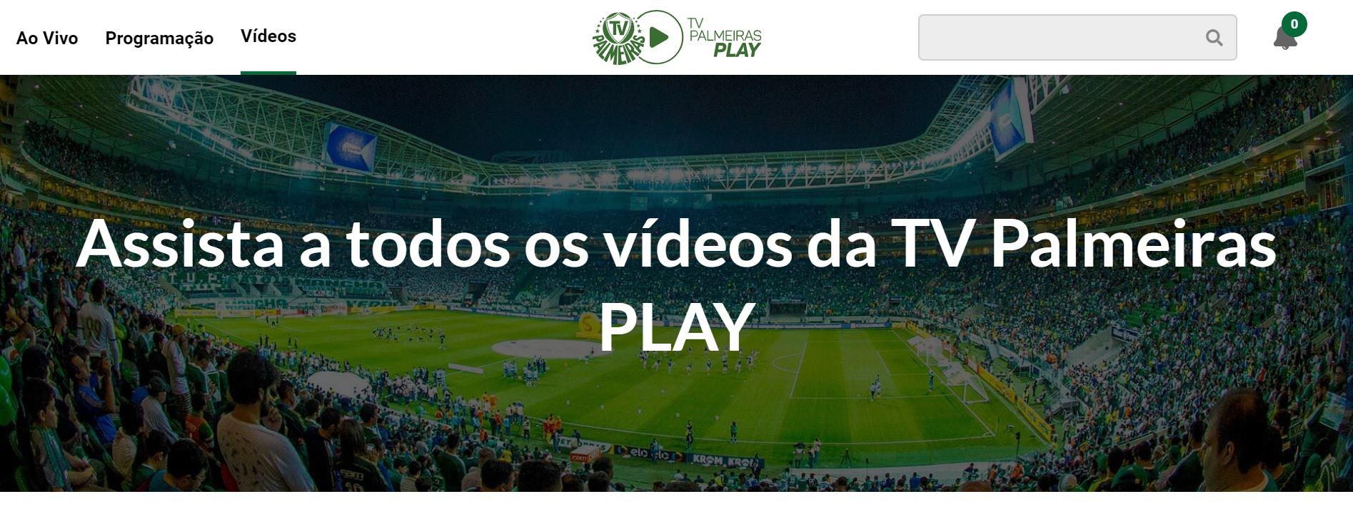 screen capture video tv palmeiras play