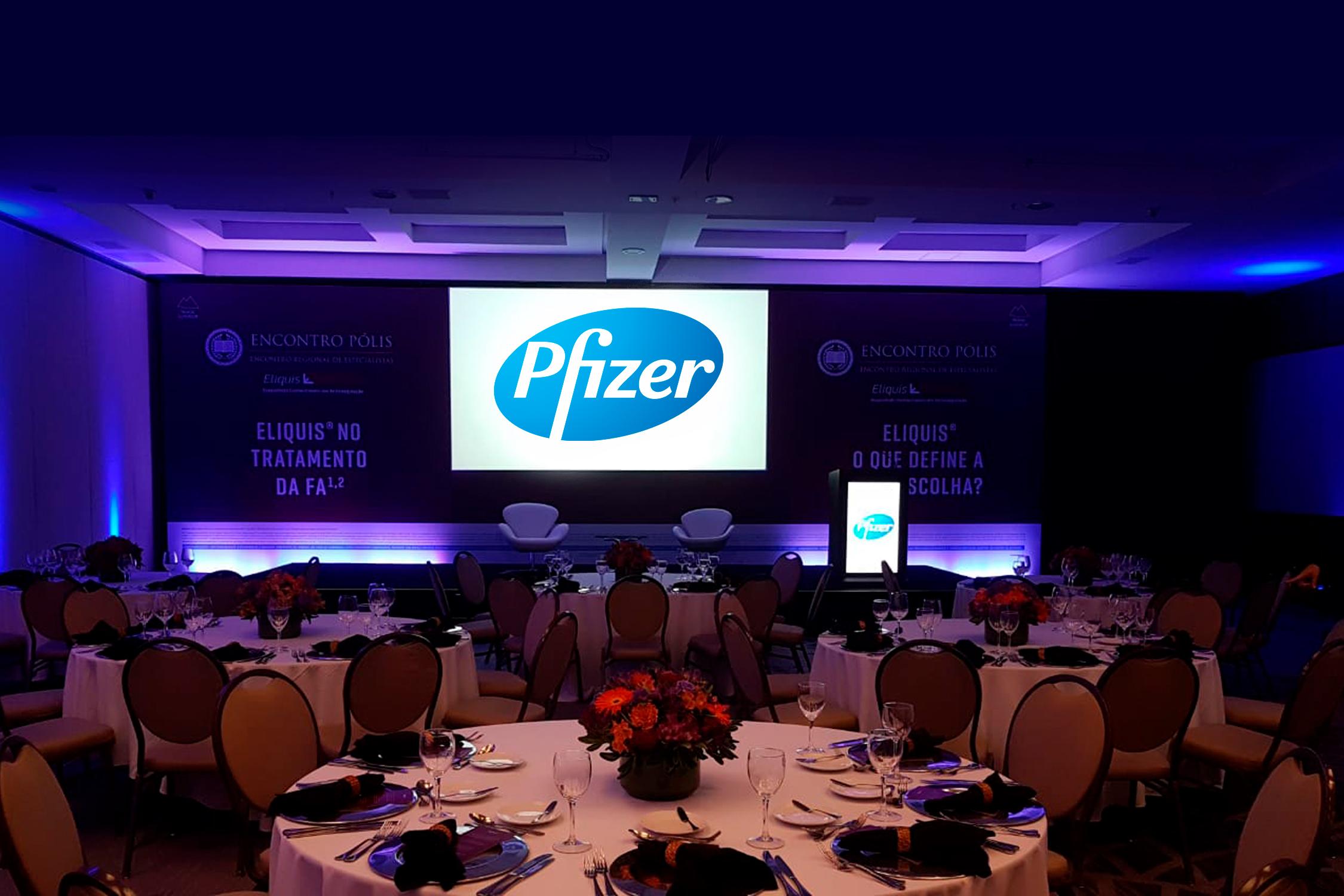 evento corporativo farmacéutica pfizer