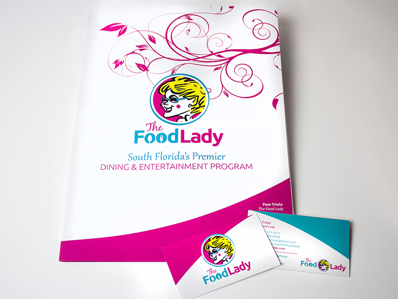 The Food Lady Brochure and Business Cards
