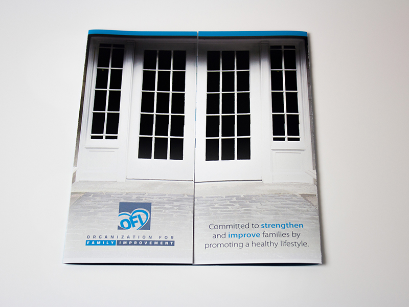 Portfolio Image Organization for Family Improvement Brochure by First Impressions Creative Services