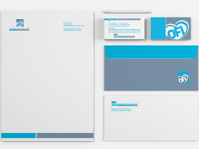 Portfolio Image Organization for Family Improvement Business Card Envelope Letterhead Logo by First Impressions Creative Services