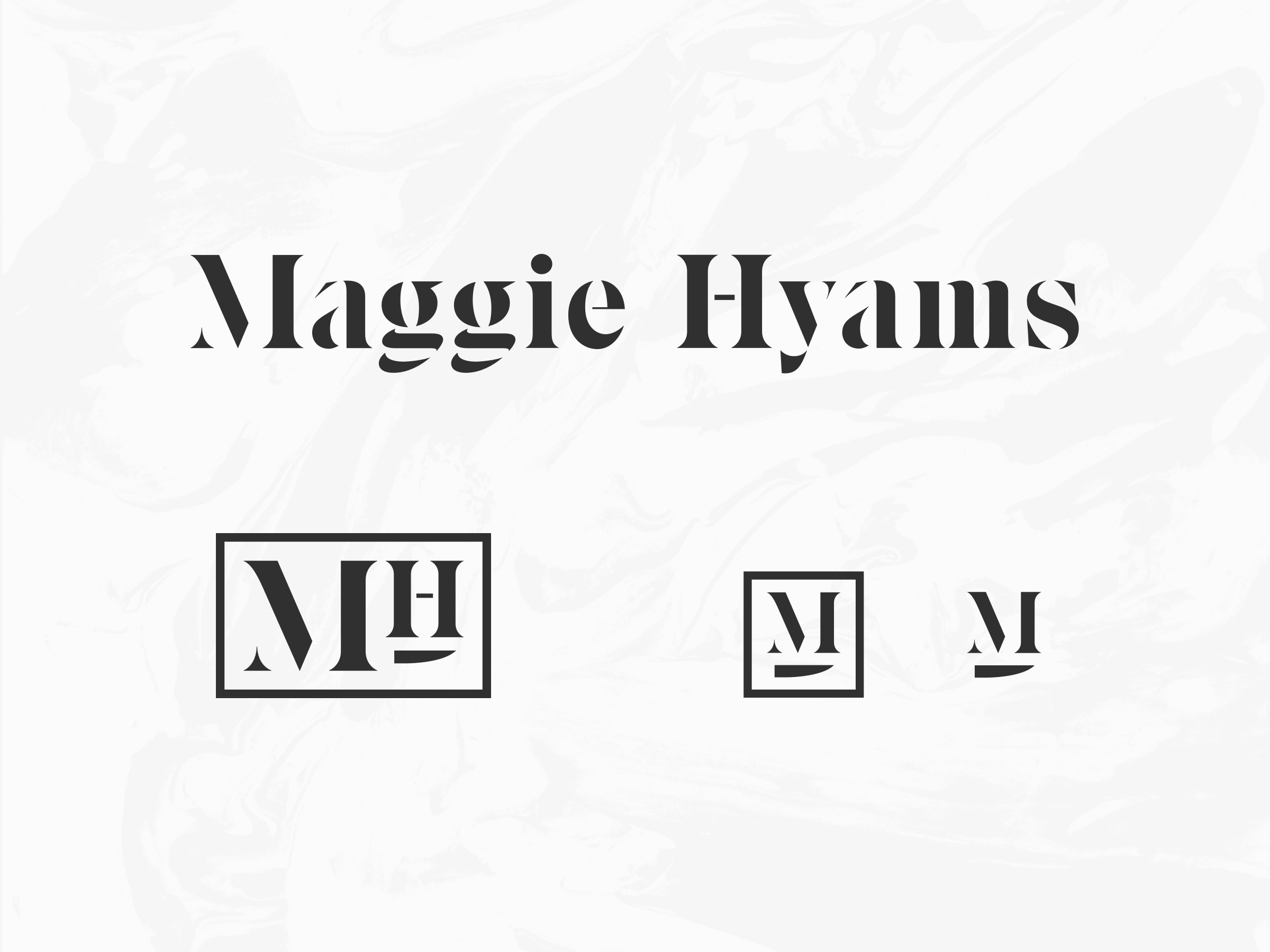 Maggie Hyams logo set