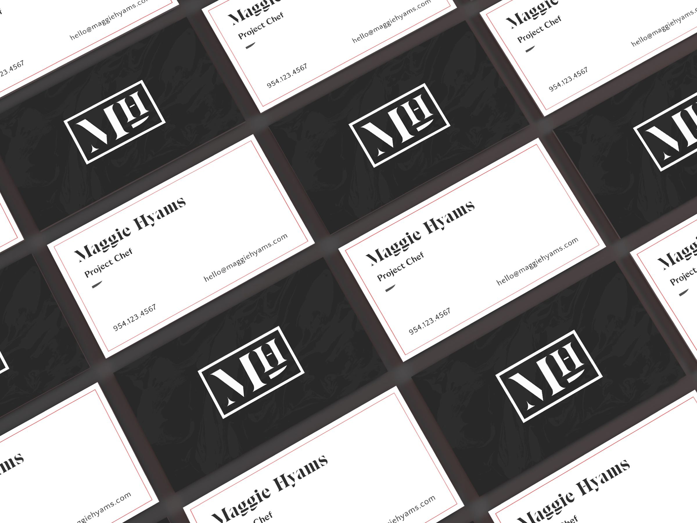 Maggie Hyams business cards