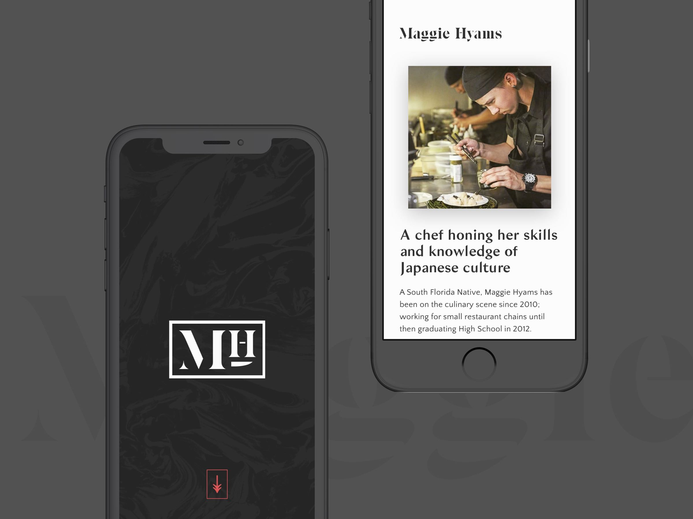 Maggie Hyams website mobile view