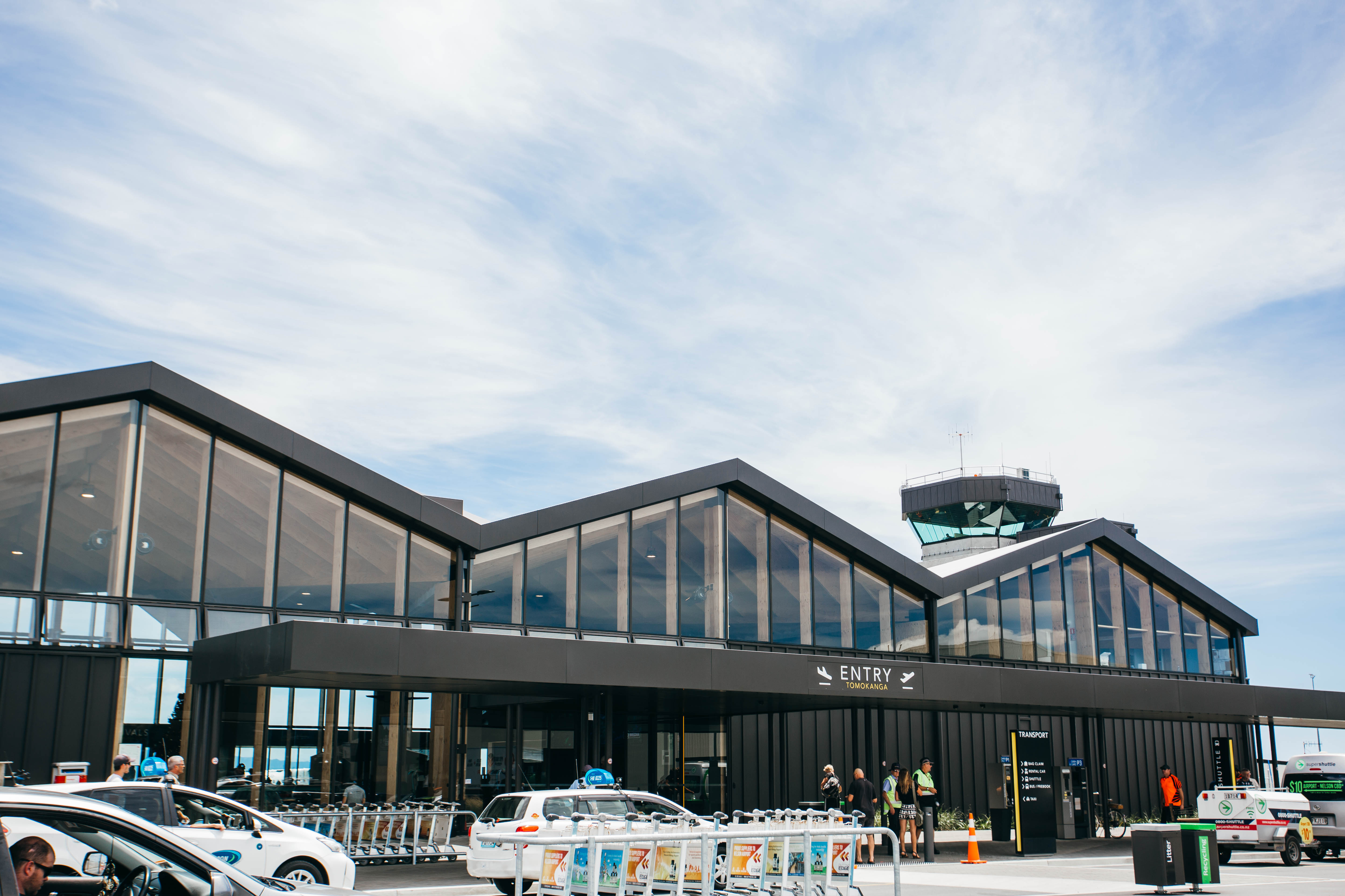 Nelson Airport Entrance