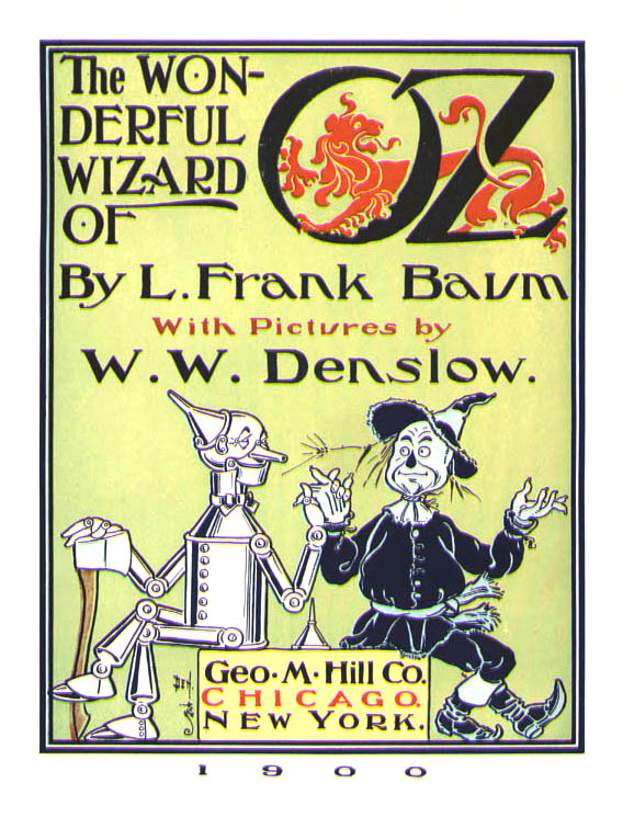 Front cover of the book The Wonderful Wizard of Oz.