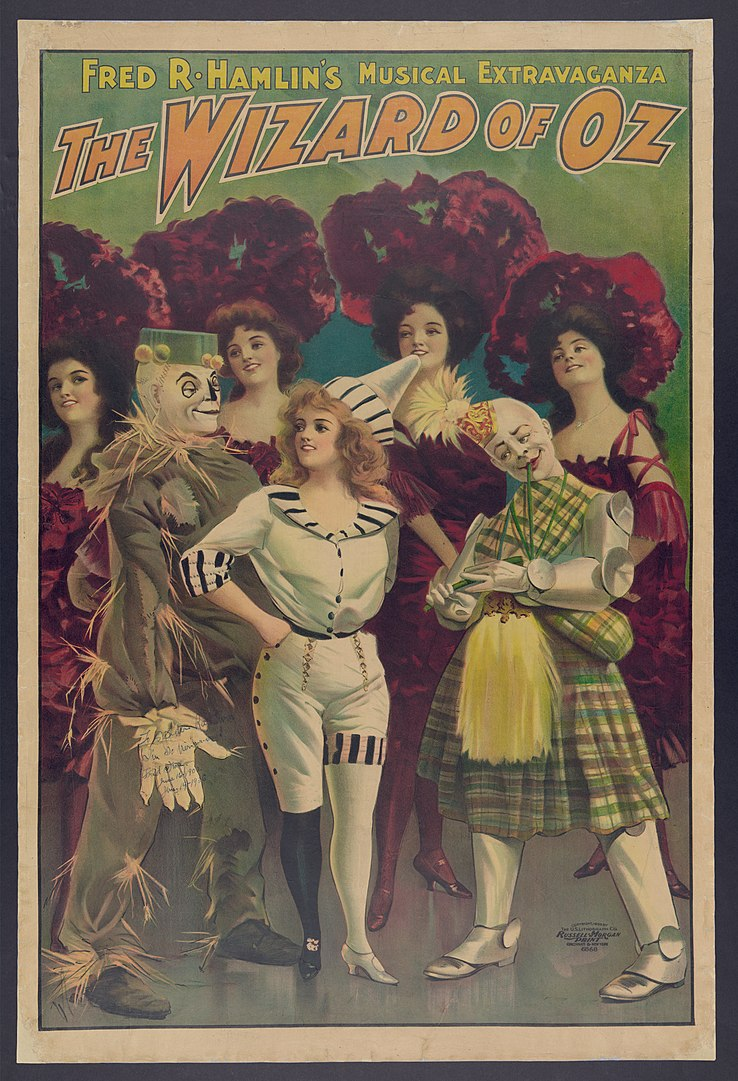 Poster of Fred R. Hamlin's musical extravaganza, The Wizard of Oz.