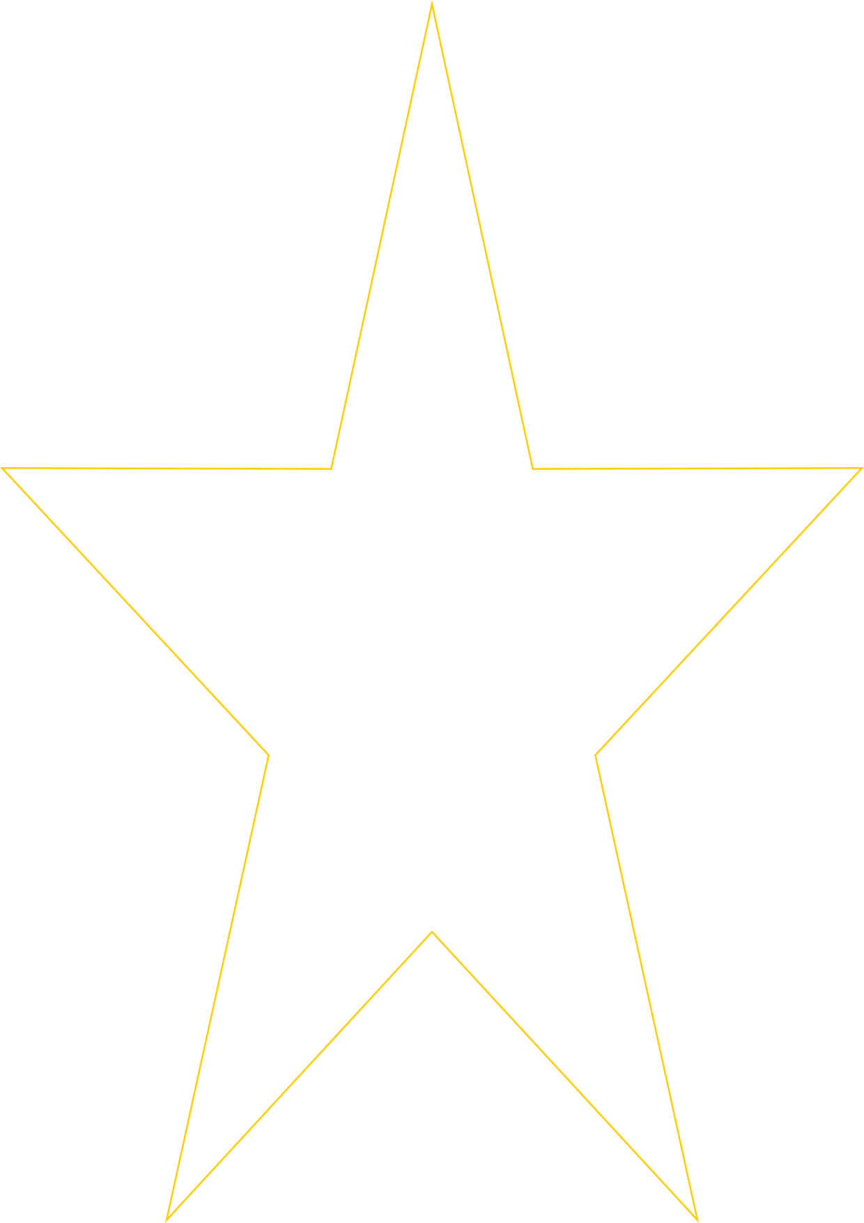 Yellow outline of a star