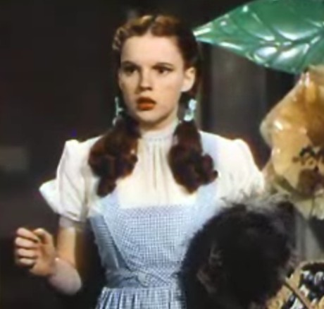 Judy Garland as Dorothy in the musical film The Wizard of Oz