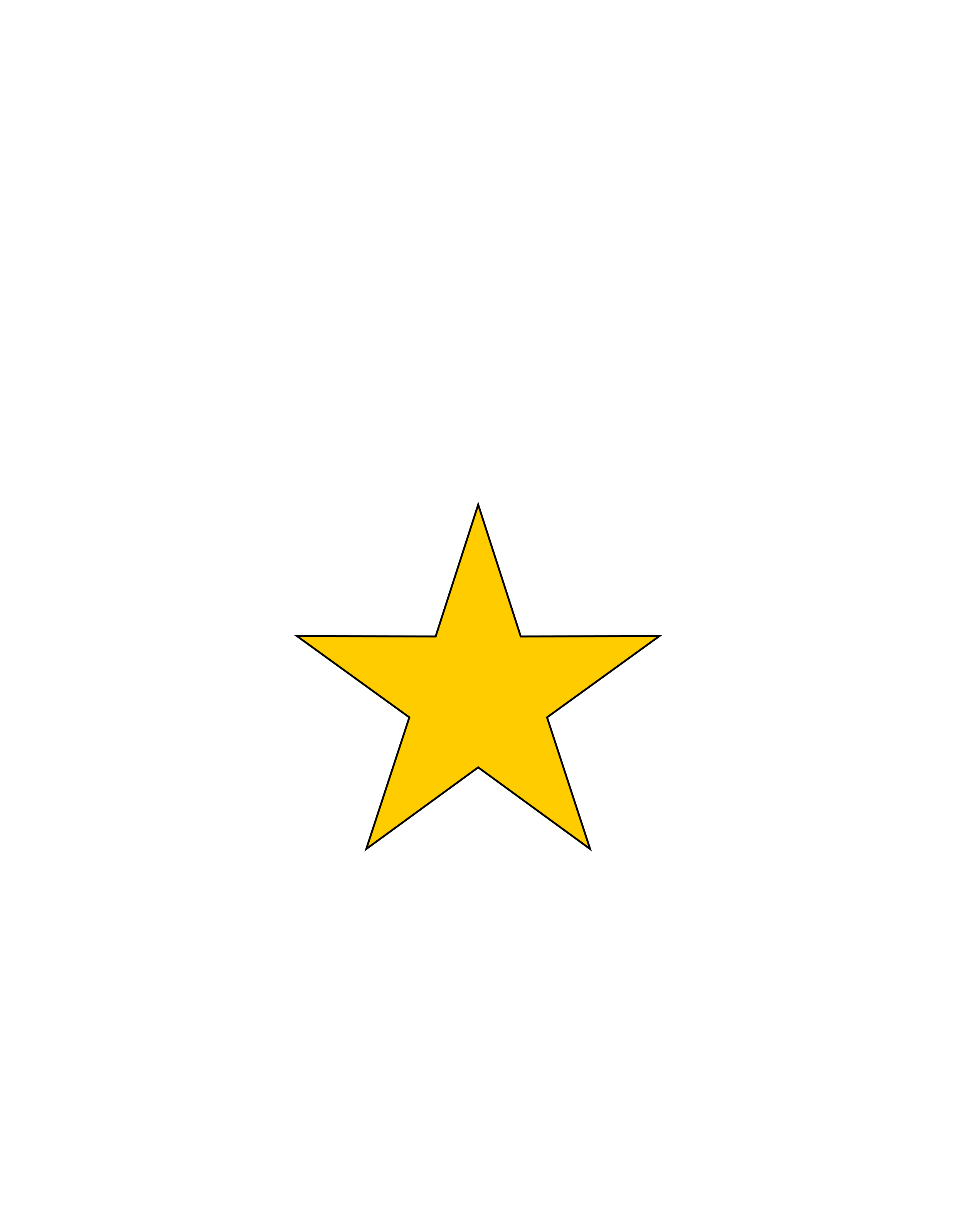 Gold star with black outline