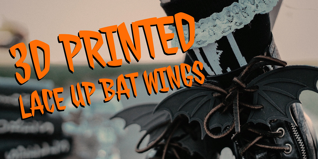 3D Printed Lace Up Bat Wings