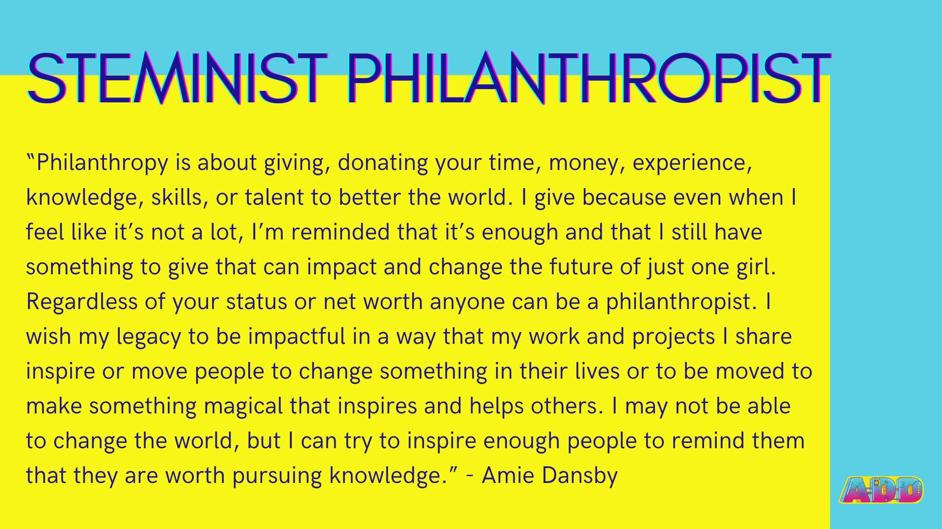 STEMinist Philanthropist