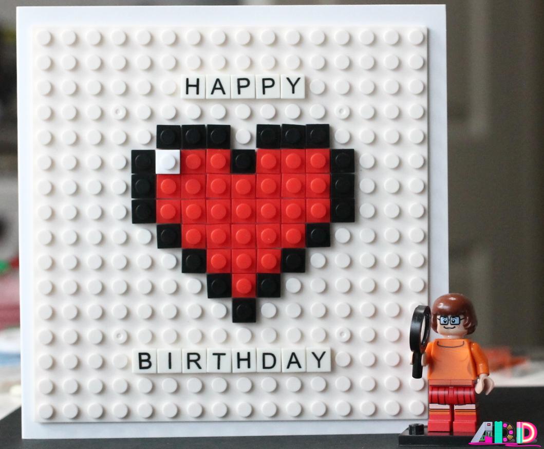 8Bit LEGO Birthday Card Etsy